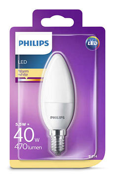 Philips Led Kynttilä 5,5W, E14 470LM  (40W), 2700K