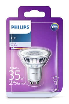 Philips Led 3,5W, GU 10 275Lm (35W), 4000K