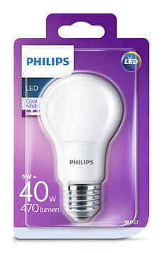 Philips Led 5W, 470LM (40W) E27 4000K