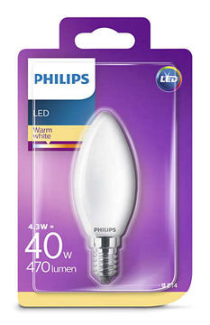 Philips Led Kynttilä 4.3W, E14 250LM  (40W), 2700K