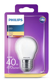 Philips Led 4,3W mainoslamppu E27, 3000K