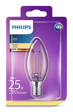 Philips Led Kynttilä 2W, E14 250LM  (25W), 2700K