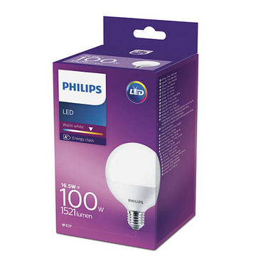 Philips Led 15W 1521Lm (100W), 2700K pallolamppu