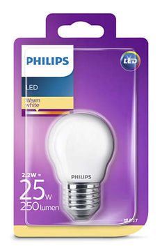 Philips Led 2.2W 250Lm(25W), E27 2700K, mainoslamppu