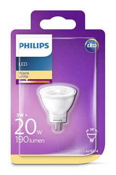 Philips Led 2,6W GU4 190Lm (20W), 27000K