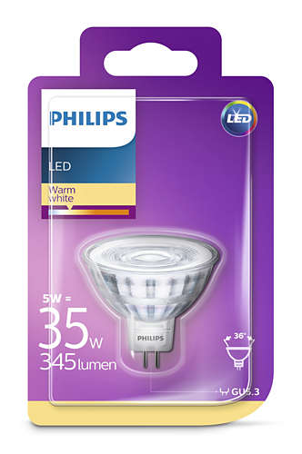 Philips Led 5W, GU5.3 345Lm (35W), 2700K